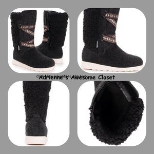 Muk Luks Black Heather Tally Boot -Women